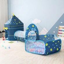 Tente pour enfants 3 en 1, maison jouet boule, Tipi Portable, Tunnel de rampage, piscine, fosse, tente amovible pour enfants