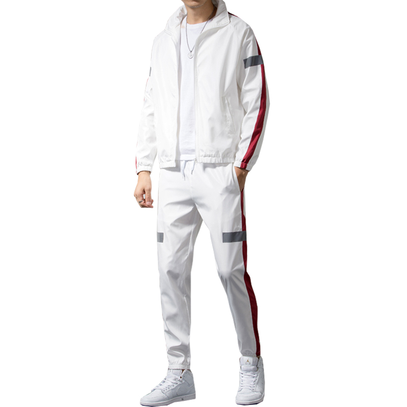 2020 Spring Autumn New Fashion Hood Tracksuit Men Casual Slim Leisure Suit Men Youths Lovers Sets 3 Colors S-XXL AYG205