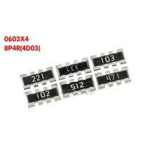 5000PCS 0603 Resistor Matriz 8P4R 22 ~ 470K ohm 22R 33R 100R 200R 300R 330R 390R 470R 510R 10 3 2 1K K K K 100K 470K
