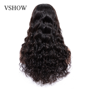 Image 4 - VSHOW Brazilian Deep Wave Wigs For Women 13x4 Lace Frontal WigS 180% Density Lace Closure Wigs Remy Loose Deep Human Hair Wigs