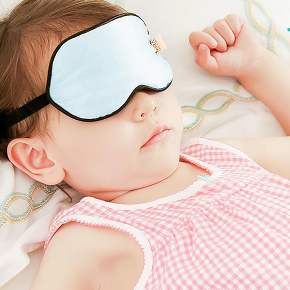 Infant Silk Eye Mask Newborn Basking UV Silk Eye Protecting Mask Baby Sleep Shading Cover Eye Shield
