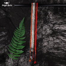 8mm Natural Tassel Pendant 99 Prayer Beads Islamic Muslim Tasbih Allah Mohammed Rosary for Middle East Women Men