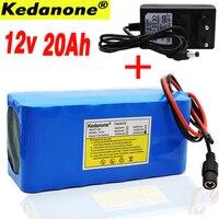 100% Original 18650 battery 12V large capacity 12V 20ah 18650 lithium battery protection board 12V 20000mAh capacity + charger