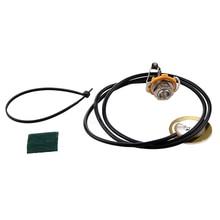 Guitar Parts Acoustic Pickup Pre-Wired Piezo Amplifier Jack недорого