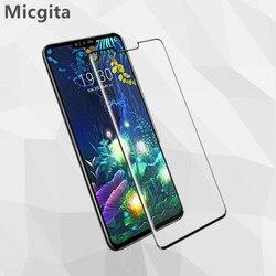 На Алиэкспресс купить стекло для смартфона micgita tempered glass for lg g8x g8s g8 g7 screen protector full cover glass for lg v60 v50 v50s v40 v30 for lg q51 q60 q70