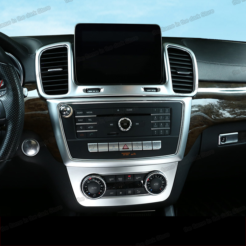 Lsrtw2017 araba iç aksesuarları merkezi kontrol paneli dişli ses için pencere çerçeve düzeltir Mercedes Benz Ml Gl Gle Gls W166 x166
