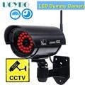 Поддельная муляж камеры wifi система видеонаблюдения наружная имитация красного светодиода для домашней безопасности Предупреждение ющие н...