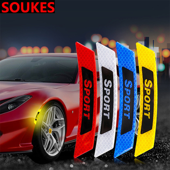 Car Styling Sport Fender Wheel Edge Brows Decal Sticker For Volkswagen VW Polo Passat B5 B6 CC Golf Touran Tiguan Bora Scirocco image