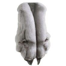 купить Real Fox Fur Vest Female Medium Long Natural Fox Fur Coat Jacket Waistcoat With Pockets Plus Size Sleeveless Autumn Winter Coat дешево