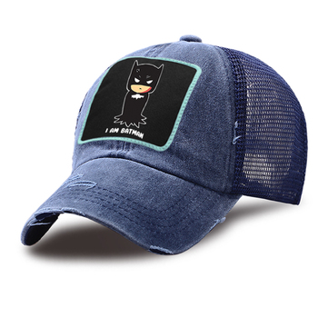 I'm Batman Cartoon Funny Mesh Riding Caps Unisex Cotton Snapback Hat Summer Casual Trucker Hat Outdoor Adjustable Baseball Cap недорого
