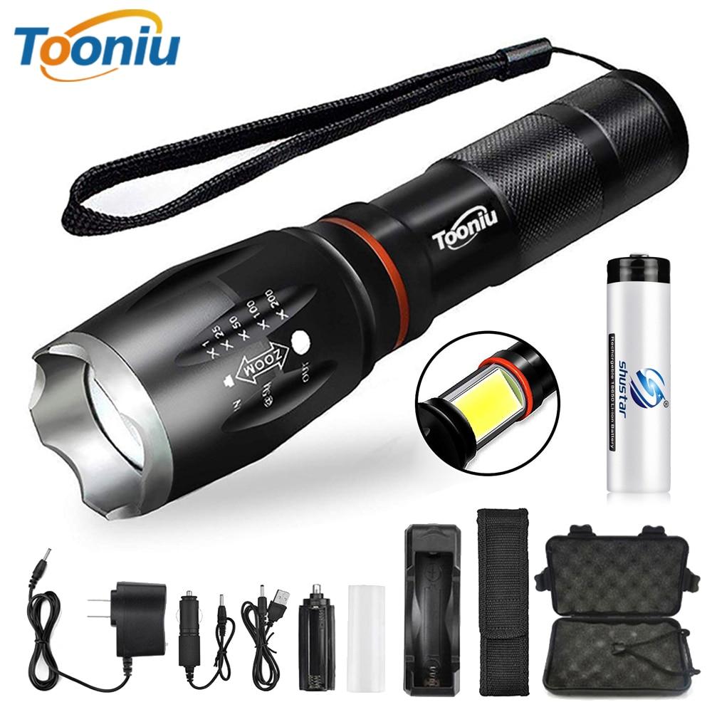 Glare Lanterna LED COB trabalho Lado luz Zoomable LED Torch 6 modos de iluminação Cauda ímã Adsorvivel Para camping, andar de bicicleta, etc.