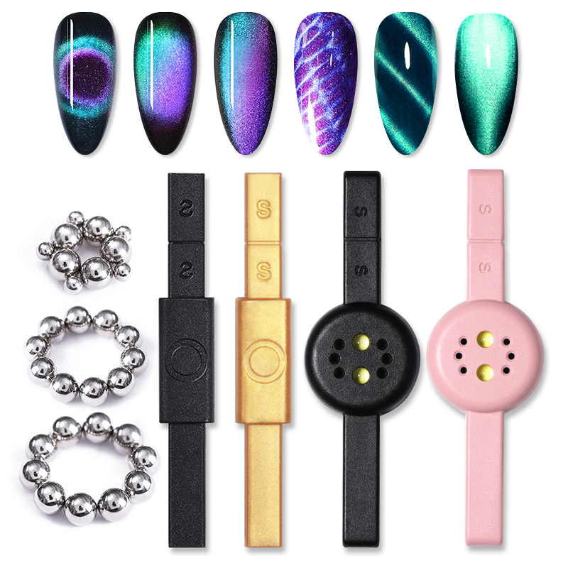 1 Pc Cat Eye Magnetic Stick Dual-ended Flower Strip Pattern For UV Nail Gel Polish Magnet Board Manicure Nail Art Tool
