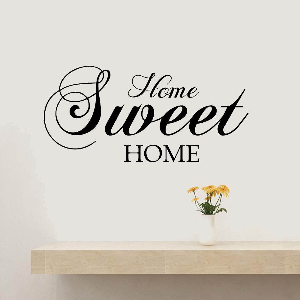 Home Sweet Home Wall Stickers Quote Removable Vinyl Wall Sticker Home Decor Living Room mural Bedroom Art Decals wallpape