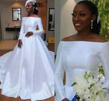 Новинка 2021 атласное свадебное платье es Элегантное с открытыми
