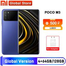 Испания склад глобальная версия POCO M3 4 ГБ 64 ГБ/4 ГБ 128 Гб Смартфон Snapdragon 662 6,53