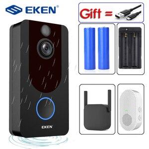 Image 1 - EKEN V7 HD 1080P Smart WiFi Video Doorbell Camera Visual Intercom Night vision IP Door Bell Wireless Security Camera