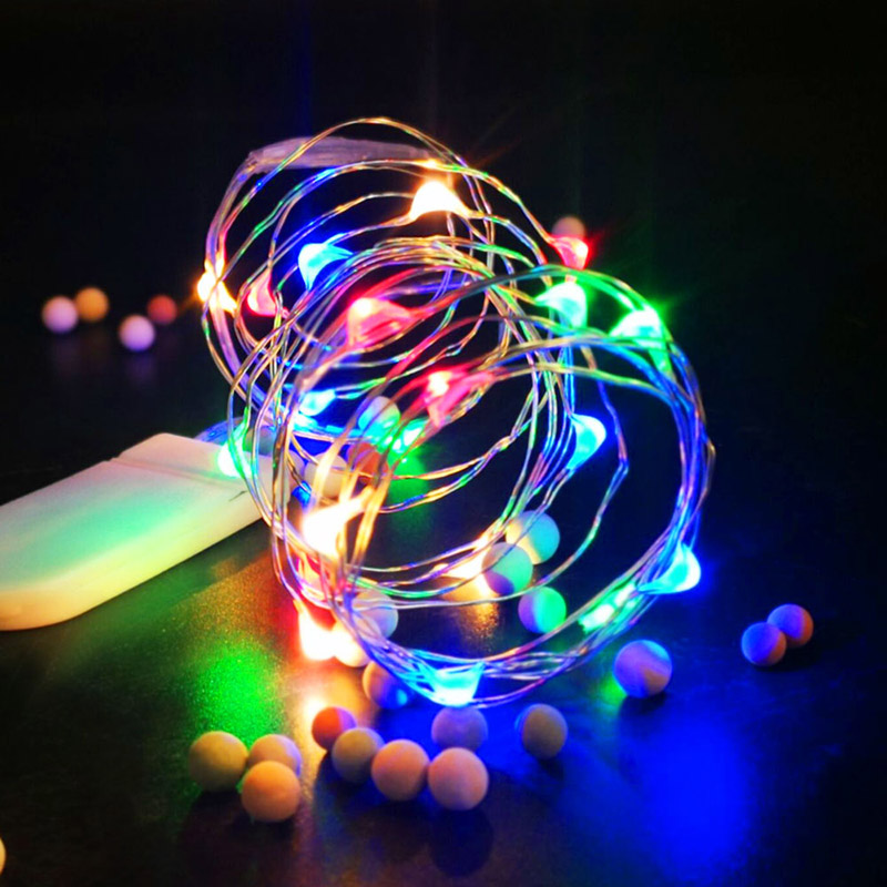 LED String Lighting Christmas Party Flexible Rope 2/3/5/10/12m IP65 Waterproof Sliver Wire Wedding Fairy Lights