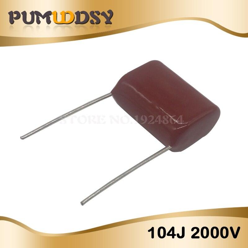 100pcs 1600V 122 J 0.0012uf 1.2nf 1200pf P15 CBB81 CBB metal film capacitor