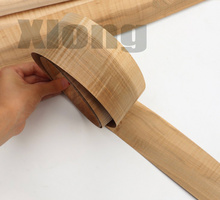 2.5Metes Width:6.5cm Thickness:0.5mm Pure Solid Wood Veneer Shadow and Two-color Bow Arrow Bark Veneer
