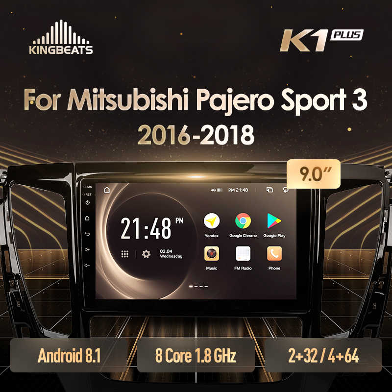 KingBeats Android 8.1 unità di testa 4G Car Radio Multimedia Video Player di Navigazione GPS Per Mitsubishi Pajero Sport 3 2016 2018