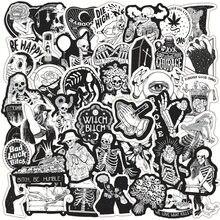 10/30/50PCS serie Horror adesivi Graffiti teschio bianco e nero Laptop chitarra moto Cool Sticker Decal Kid giocattoli classici