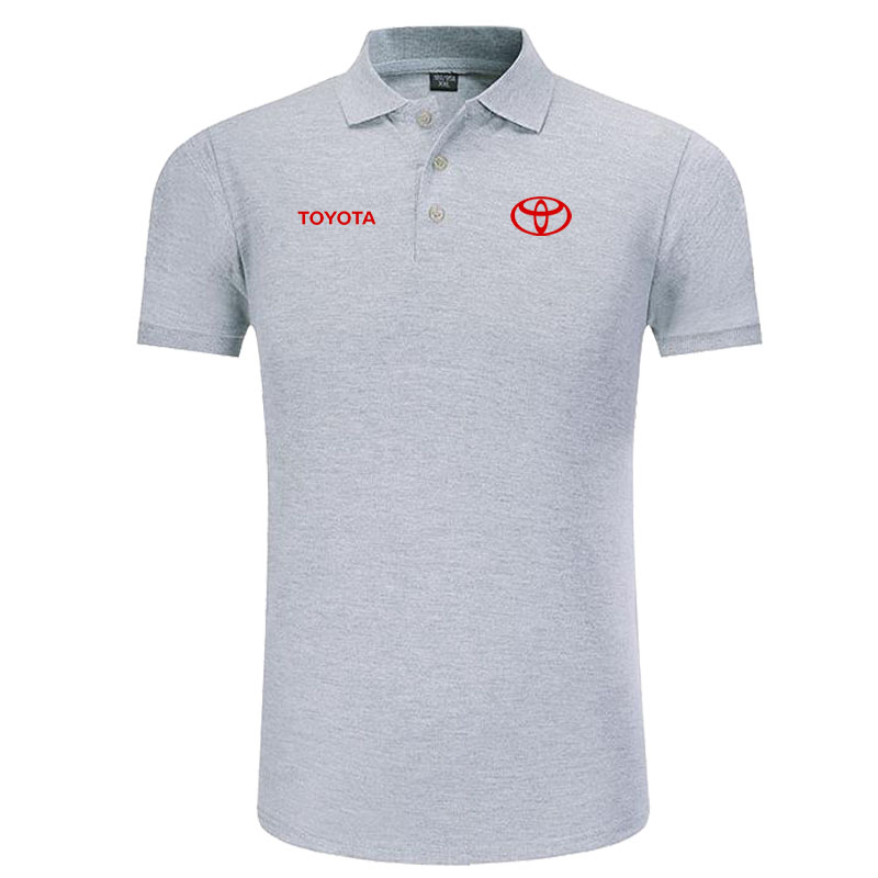 New Classic Toyota Logo Polo Shirt Men Brand-clothing Casual Solid Summer Polos Cotton