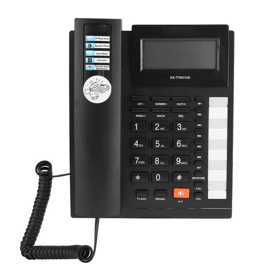 KX T7007 Dual Interface Caller ID Large Buttons Home Office Telephone Landline Black audifono Home Telephone Corded Telephone