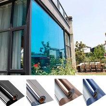 Uma maneira espelho janela filme de vidro de vinil manchado auto adesivo filme prata isolamento térmico matiz da janela solar privacidade para casa