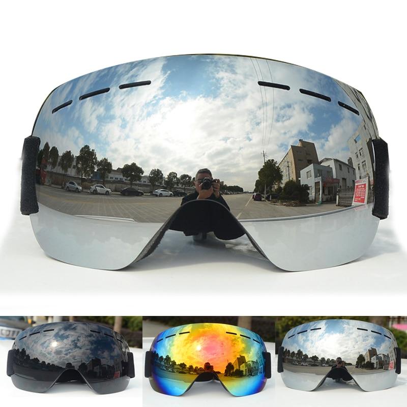 Лыжные очки двухслойные UV400 Анти-туман большие очки лыжные очки маска для сноуборда защита от снега для мужчин и женщин