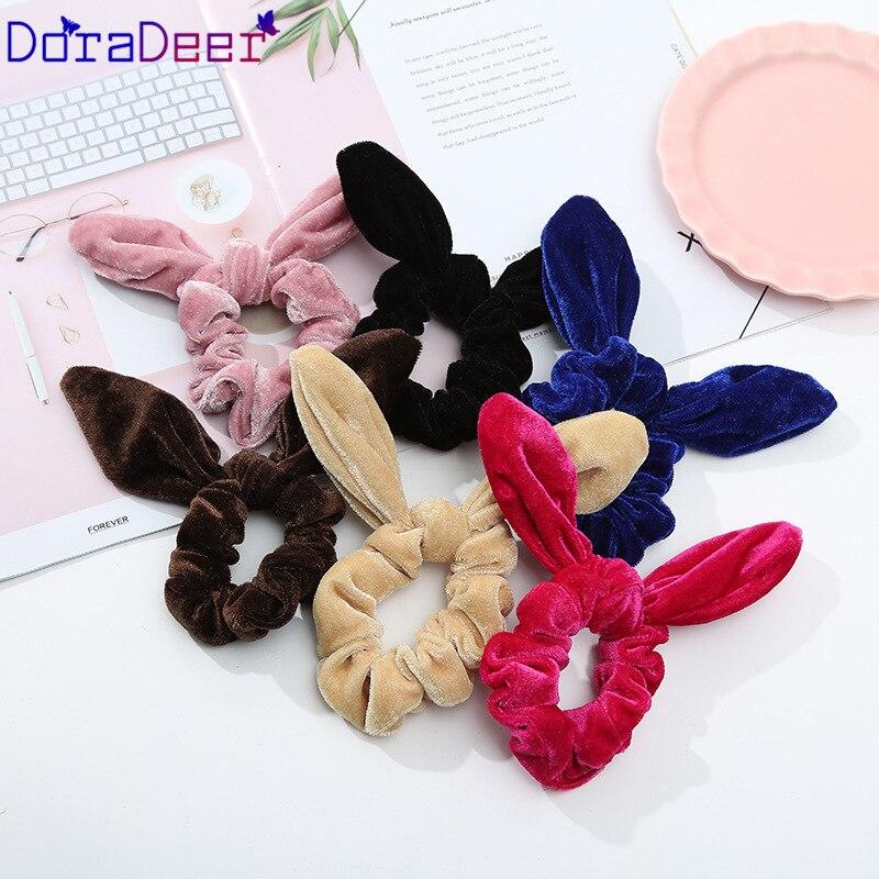 DoraDeer резинка для волос для девочек черные однотонные аксессуары для волос Для женщин Одежда для купания для девочек; прическа хвостик;