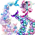 Набор для вечерние «Русалочка», комплект из гирлянды с хвостом Русалочки и воздушных шаров для девочек, для вечерние ринки в честь Дня Рожде...
