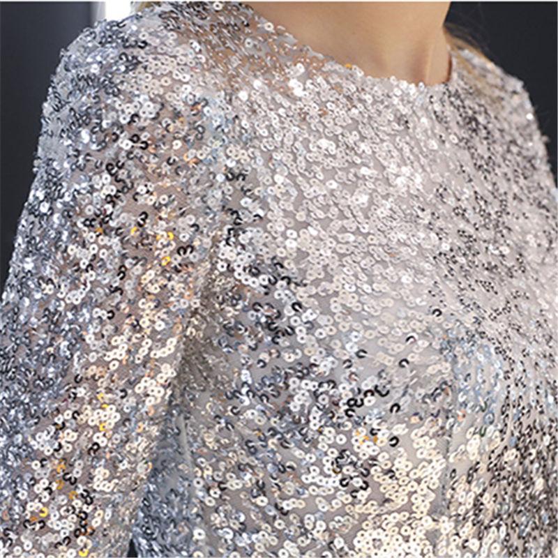 Купить вечернее платье с блестками it's yiiya праздничные серые
