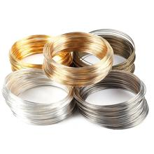 Copper 10Loops Silver Gold Memory Beading Steel Wire For DIY Jewelry Findings Multi-layer Bangle Bracelet Making 0.6mm