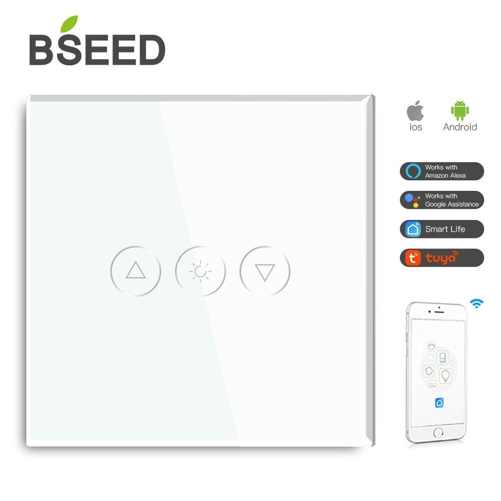 BSEED WI-FI диммер настенный Smart Touch затемнения светодиодный светильник Настенные переключатели стекло Google Alexa приложение Сенсор переключатели ...