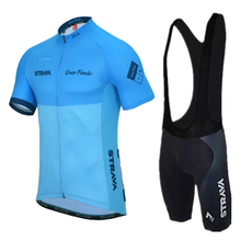 Team STRAVA White Color Cycling Clothing Bicycle Jersey Mens Clothes Summer Professional Jerseys 20D Gel  Bike Shorts