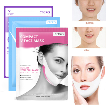 V Shaping Face Mask Hanging Ear Masks Skin Moisturizing Tightening Facial V-Shape Lifting Face Neck Mask Chin Firming Skin Care image