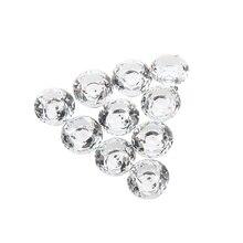 цена на 10pcs 30mm Diamond Crystal Glass Door Drawer Cabinet Furniture Handle Knob Screw