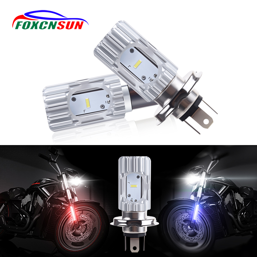 H4//HS1 DC 12V 40W 8LED White Motorcycle Hi//Lo Beam Headlight Lamp Super Bright