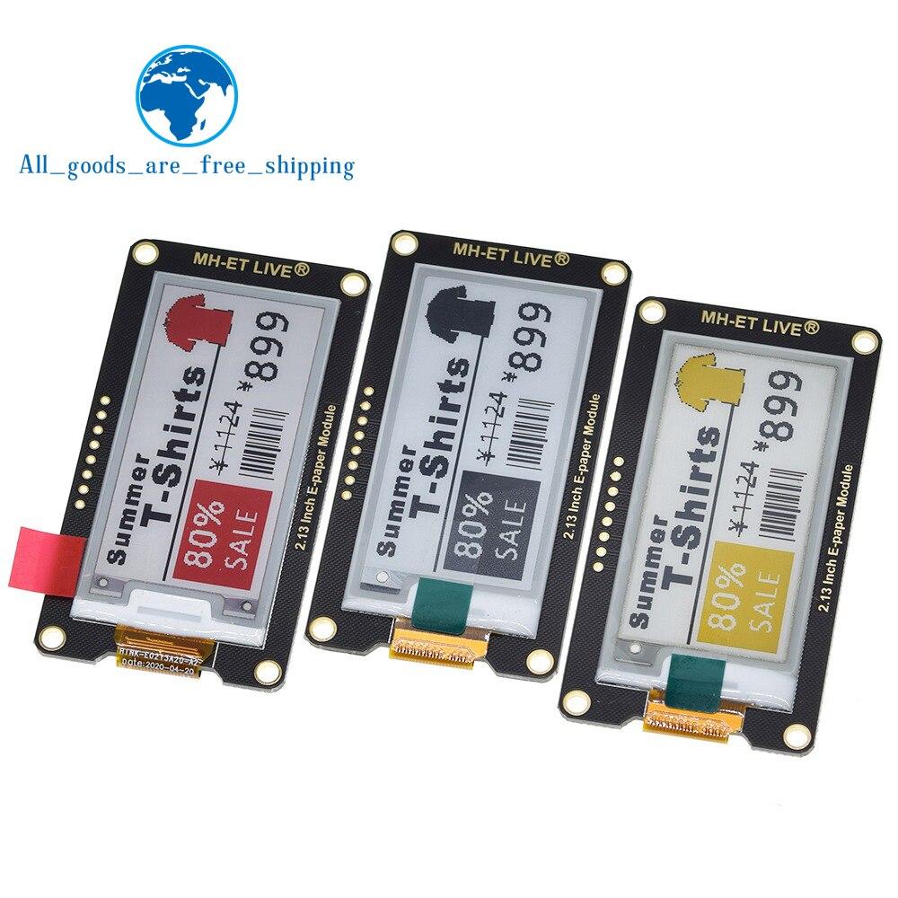 """2.13 """"2,13 Inch Epaper Modul E-papier E-Tinte EInk Display Bildschirm SPI Unterstützung Für Arduino UNO STM32 Raspberry PI ESP32"""