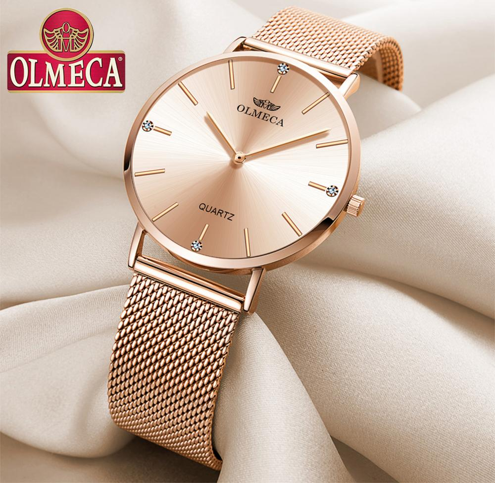 Sport Women Watches OLMECA Rose Luxury Brand Watch Dress Reloj Mujer Water Resistant Wrist Watch reloj mujer ladies watch 2019
