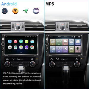 """Image 2 - Podofo 2 Din Car radio Multimedia Video Player 2 din 7"""" Wince / Android with GPS Wifi Autoradio for Universal VW Toyota Hyundai"""