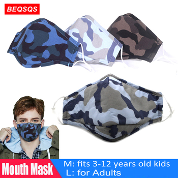 Fashion Face Mouth Mask Reusable Washable Masks Breathable Cotton PM2.5  Mouth Cover Filter Mask Fits Adults/3-12 Years Old Kids