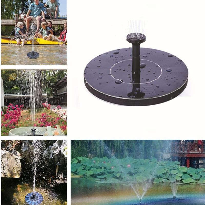 Bird Bath Solar Fountain Powered Water Pump Floating Outdoor Pond Garden Pool