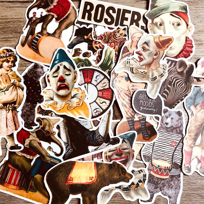 23 шт. в европейском и американском стиле с рисунком наклейки клоун руки учетную запись материал Сделай Сам дневник; альбом ins наклейки Хобо tn
