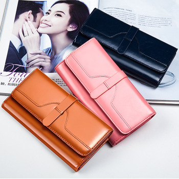 New Fashion Women's Wallet Long Money Clip - discount item  20% OFF Wallets & Holders