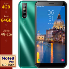 Global Versie Note 8 Pro 4G Lte Android Mobiele Telefoon 6.0Inch 4Gb Ram 64Gb Rom 13MP camera Smartphones Gezicht Id Unlock Mobiele Telefoons(China)