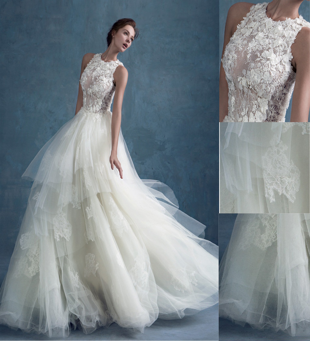 Romantic A-Line Scoop Sleeveless Appliques Long See Through Tulle Lace Vintage Vestido De Noiva 2018 Mother Of The Bride Dresses