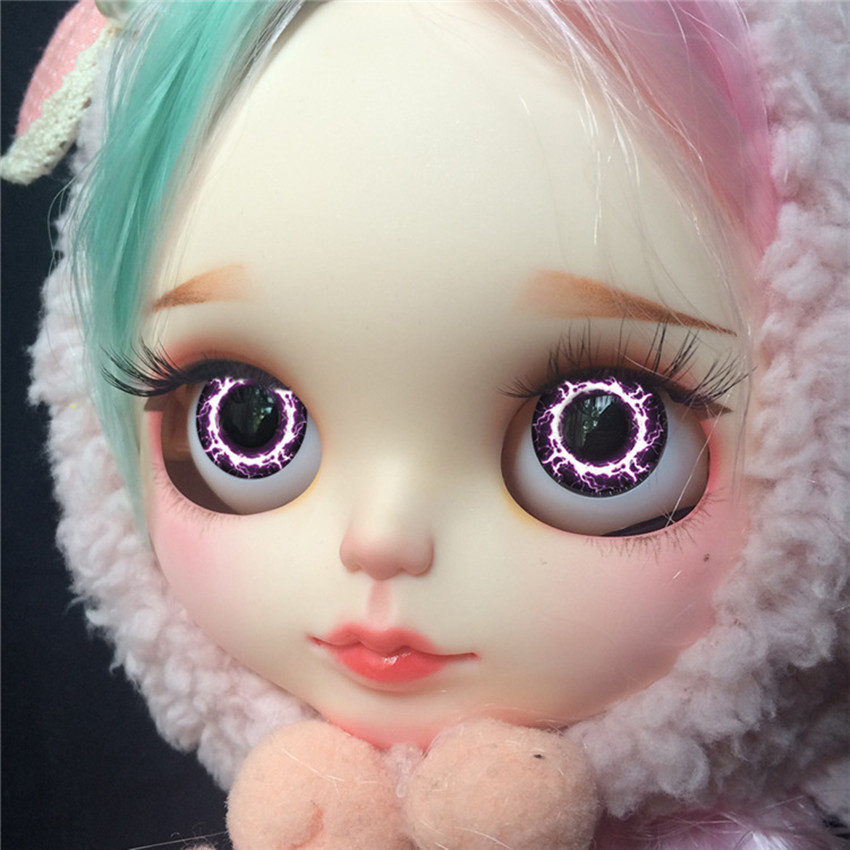 Blyth Doll Fashion Colorful Plastic Eyechips About 14mm DIY Doll Eye Patch Pupil Custom Doll Eyes Blyth Doll Girl Toys For Kids