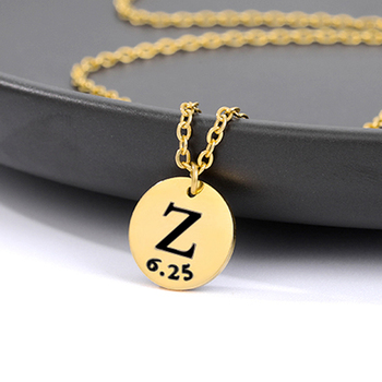 DIY Custom Necklace For Women Gold Silver Color Name Necklace Personalized Initial Letter Pendant Chain Collier Femme Jewelry real sterling silver initial letter amour necklace red coral shell choker zircon name pendant for women brand monaco jewelry