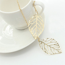 New fashion jewelry simple personality wild temperament 2 leaf necklace female jewelry necklace necklace 2
